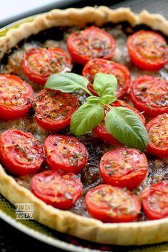 Tarte à la tomate, tapenade et mozzarella