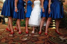 Love the color of those dresses!!