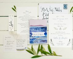 We want invitations like these only we would want more of a balance -i.e. whimsical design and a more formal wedding invitation (maybe the folded events itinerary is more whimsical and invitation a little more formal but also has some whimsical elements)