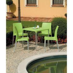 Tavoli polipropilene con gambe in alluminio quadrati. Da esterno, economici e moderni per il giardino, terrazzo e veranda. Ideali per casa, bar, pub, negozio, ristorante, pasticceria, gelateria al miglior rapporto prezzo – qualità.