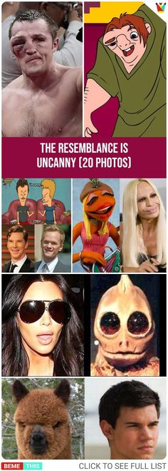 The Resemblance is Uncanny #uncannyresemblance #photos #funnypics #funnypictures #lookalike #humor #funny #bemethis