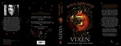 ...and this is the soft-touch hardback cover of 'Vixen', spread out so you can read the blurb.