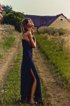 Freja Beha Erichsen photographed by Cass Bird for Vogue UK Jan 2014, styled by Francesca Burns