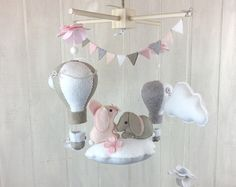 Baby mobile bunny mobile moon mobile A by JuniperStreetDesigns