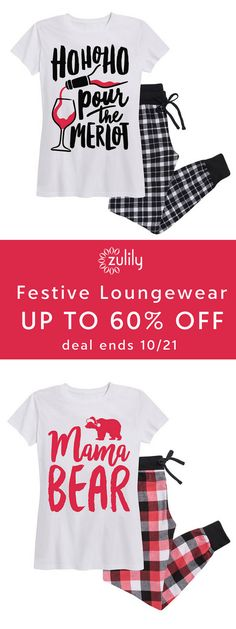 Sign up to shop Christmas pj's and loungewear, up to 60% off. These playfully coordinated tees and pj's include grown-ups in the festive holiday antics. Shop mama and papa bear matching pj's, funny graphics, and more.