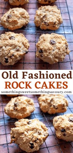 Rock Cakes (Rock Buns) are a very simple but classic bake. Made with just a few store cupboard ingredients they are very quick and easy to make and are perfect with a cup of tea! Easy Cake Recipes, Sweet Recipes, Baking Recipes, Dessert Recipes, Desserts, Uk Recipes, Biscuit Recipes Uk, Rock Cakes, British Baking
