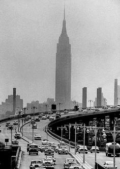 empire state building from queens, 1952