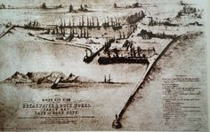 Early sketch of Cape Town's waterfront. Old Maps, Antique Maps, Victoria Falls, Historical Pictures, My Land, African History, Cape Town, Family History, Old Photos