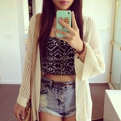 tube top and sweater i want