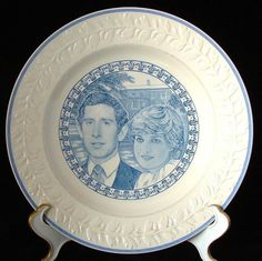 Adams Plate Prince Charles and Diana Royal Wedding 1981 Blue Transferw – Time Was Antiques