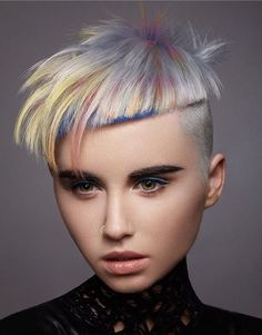 2019 Optimal Power Flow Exotic Hair Color Ideas for Hot and Chic Celebrity Hairstyles – Page 91 – My Beauty Note Celebrity Hairstyles, Hairstyles With Bangs, Short Haircuts, Exotic Hair Color, Hair Colour, Pelo Multicolor, Competition Hair, Corte Y Color, Editorial Hair