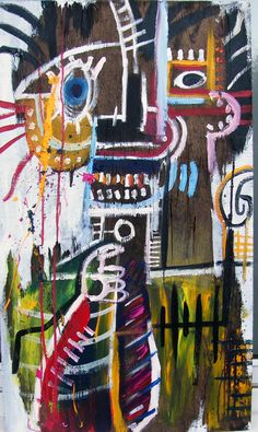 jean-michel basquiat artwork   Portrait Of Basquiat In Armani Suit' Acrylic on extremely ...