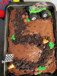 School Time Snippets: Monster Truck Themed Birthday Cake
