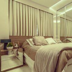 Moldura em laca para embutir a cortina e a cabeceira da cama!