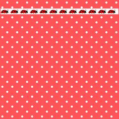 FREE printable red polka dot and ladybug scrapbooking paper – DIY wrapping paper
