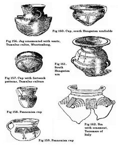 Cups, jugs and urns, Hungary, Tumulus, Pannonia, Wurrtemberg, Italy