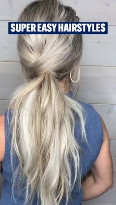 Easy Hairstyles For Long Hair, Pretty Hairstyles, Girl Hairstyles, Super Easy Hairstyles, Short Hair Bun, Summer Hairstyles, Aesthetic Hair, Great Hair, Hair Videos