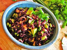 Rice salad is somewhat of a guilty pleasure for me. Not as obvious as potato or macaroni salad, a rice salad is so much more versatile. No need to add all the mayonnaise and unhealthy fat to get f…