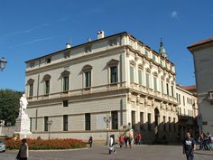 Palazzo Thiene Bonin Longare is a patrician palace in Vicenza, northern Italy, designed by Andrea Palladio probably in 1572 and built after Palladio's death by Vincenzo Scamozzi. It is one of the city palazzi of the Thiene family that Palladio worked upon, the other being Palazzo Thiene in the near contrà Porti.