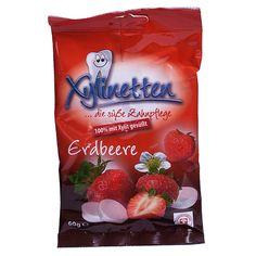 Die alternative Mundhygiene speziell für unterwegs. Ideal für Berufstätige, Schüler, Studenten und Reisende. Xylinetten sind angenehm süss, mit einem Hauch an Frische und in 6 verschiedenen Geschmacksrichtungen erhältlich.  Xylinetten sind ausschliesslich mit Xylit gesüsst. 60g Beutel mit je 30 Bonbons. Jedes Bonbon enthält ca. 2g Xylit. Snack Recipes, Snacks, Chips, Food, Candy, Oral Hygiene, Students, Strawberries, Pouch