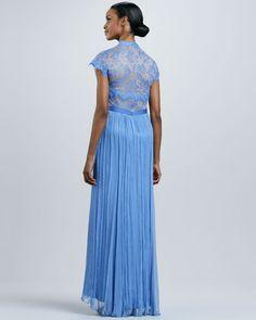 Tadashi Shoji Lace Sweetheart Neckline Gown - Neiman Marcus