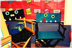 "Love her MONSTER creations....director's chair.  Fun for your ""Author"" chair or ""STAR"" student.  Cute!"