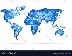 vectors World Map polygonal precision low-poly blue. Download a Free Preview or High Quality Adobe Illustrator Ai, EPS, PDF and High Resolution JPEG versions.