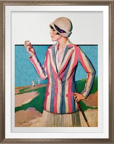 Vintage 1928 Golf Watercolor Print. 1928 magazine illustration reproduced as a watercolour on Archival Heavyweight Paper. One for the golfer's wall http://www.zazzle.com/vintage_1928_golf_watercolor_print-228799921013661584 #golf #fashion #art #print #watercolor #watercolour