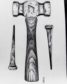 More tools and blades... project available #hammer #nail #futhark #uruz #pagan #pagans #rune #runes #ink #drawing #dotwork #love #art #strength #power #symbol #symbols #london #londonart #londontown #londonartist #londontattoo #iblackwork #strongholdtattoo #shoreditchart #shoreditch #shoreditchtattoo #darkart #portfolio #tattooart