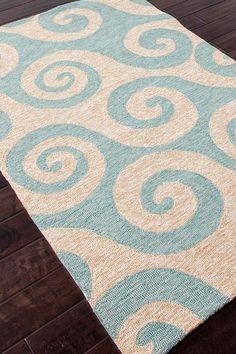 Coastal Living Rugs Coastal Pattern Indoor/Outdoor Rug - Blue