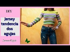 Como hacer un jersey de rayas a dos agujas : diy - YouTube Bullet Journal School, Knitting Videos, Lily, Crop Tops, Youtube, Pattern, Fashion, Crochet Batwing Tops, Vestidos