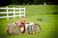 western newborn photography | Baby western photography