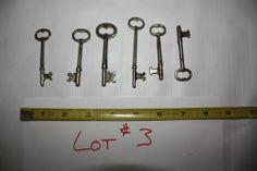 Skelton Keys Skeleton Key Barrel Flat Mixed Antique Vintage Original Lot 3 | eBay