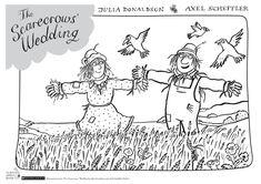 THE SCARECROWS' WEDDING Coloring Sheet. #coloring #