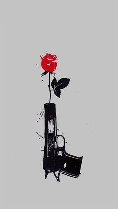 Znalezione obrazy dla zapytania gun shooting flowers
