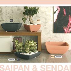#SAIPAN & #SENDAI #Vasi predisposti per l'inserimento  di #ruote piroettanti, fanno parte della collezione #Darwish.  #marchioro #lineagarden
