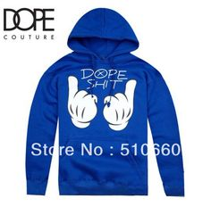 Free Shipping Fashion Hip-Hop Brand New DOPE Couture Hoodies Men's Hoodies black grey blue 3 colors on AliExpress.com. $39.00