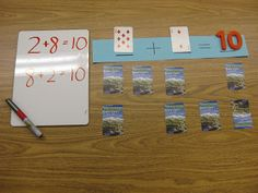 "My kids love playing math games with cards!  I like these games because most kids have the materials they need to keep on playing at home.   Parents tell me this simple game of    Addition Concentration is a favorite as kids work to learn addition facts.  (Includes a couple ""twists"" to keep the game interesting!)"