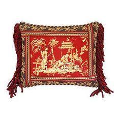 Custom Kingsway Mandarin Chinoiserie Pillow