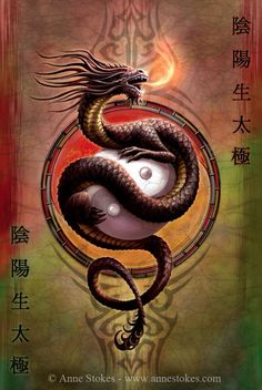 Buying Choices: Zen Dragon Ying Yang Pop Art Poster 24 x 36 inches Ying Yang, Arte Yin Yang, Yin Yang Art, Yin Yang Tattoos, Anne Stokes, Chinese Dragon, Chinese Art, Fantasy Kunst, Fantasy Art