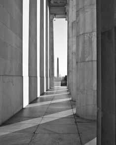 Washington DC Photography, Halls of Power, Black and White Photograph, Washington DC skyline