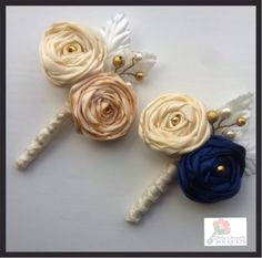 This listing is for one bespoke satin ribbon rose buttonhole for a groom, best man, groomsman, mother of the bride or any other member of Bridal Brooch Bouquet, Brooch Bouquets, Bride Bouquets, Flower Brooch, Flower Bouquets, Satin Ribbon Flowers, Fabric Flowers, Corsage, Brooch Men