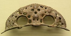 Vikings / Borre Style Viking Ornament, recognisable by animal masks and ribbon interlace.