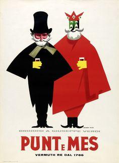 Punt e Mes (Giuseppe Verdi), di Armando Testa, 1955 ca.