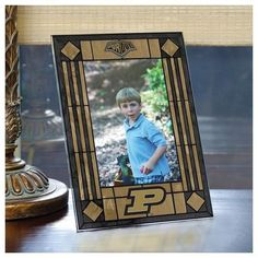 Purdue University Picture Frame Vertical Art Glass Frame