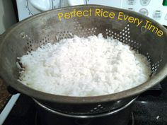 How To Make Perfect Rice Every Time