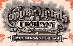 Copper Metals Company Stock Certificate