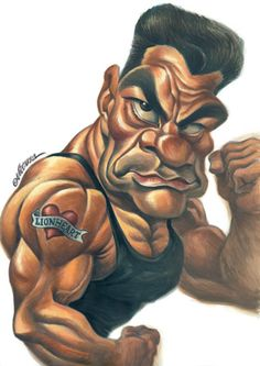Caricature of Jean Claude Van Damme  by Vizcarra