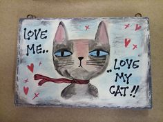 Wooden Signs, Reusable Tote Bags, My Love, Cats, Decor, Wooden Plaques, Gatos, Decoration, Cat
