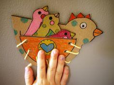 Hen lacing toy (printable)